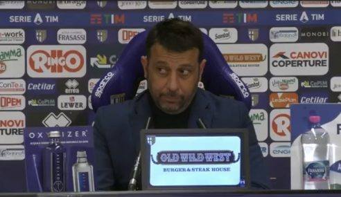 Parma-Roma 2-0: la conferenza stampa di D'Aversa post partita (Video)